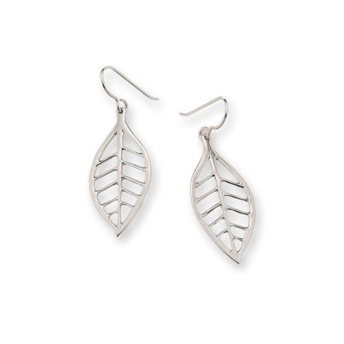 Sterling Silver Lemon Leaf Earrings