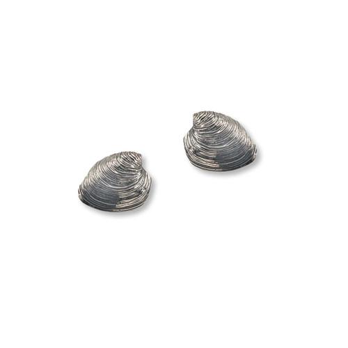 Sterling Silver Quahog Post Earrings