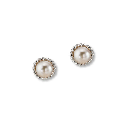 Sterling Silver Enduring Grace Freshwater Pearl Earrings
