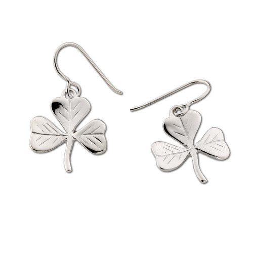 Sterling Silver Unique symbolizes Shamrock Earrings