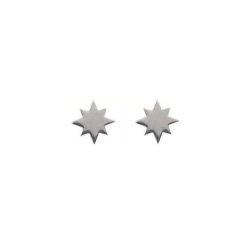 Sterling Silver North Star Earrings