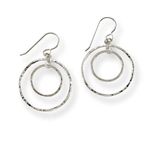 Sterling Silver Inner Circle Earrings