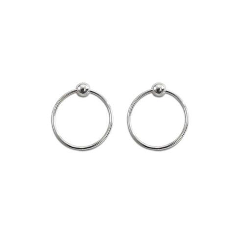 Sterling Silver Floating Circle Earrings