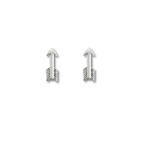 Sterling Silver Small Arrow Earrings