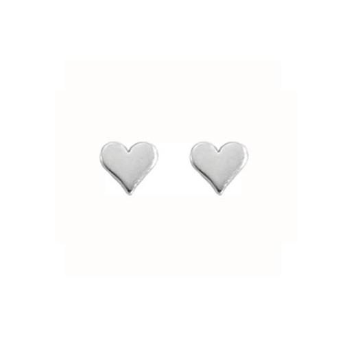 Handmade Sterling Silver Small Heart Earrings