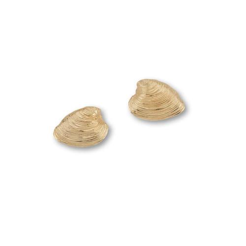 14kt Quahog Post Earrings