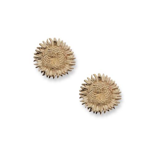 14kt Sunflower Earrings