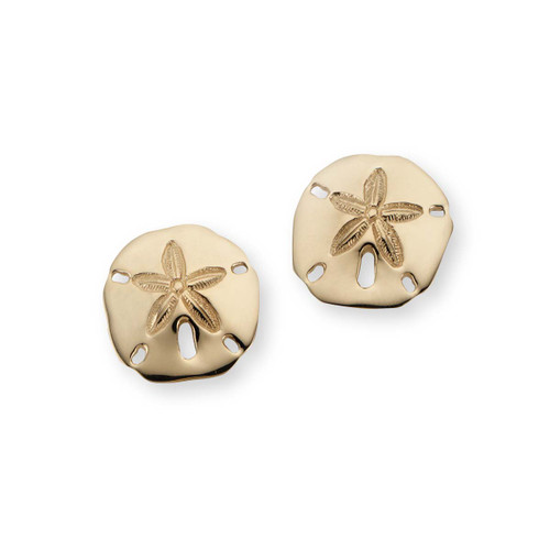 14kt Sand Dollar Earrings