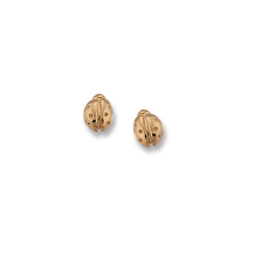 14kt Ladybug Post Earrings