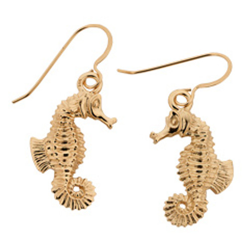 14kt Seahorse Earrings