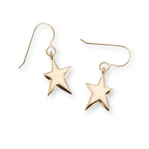 14kt Shining Star Earrings