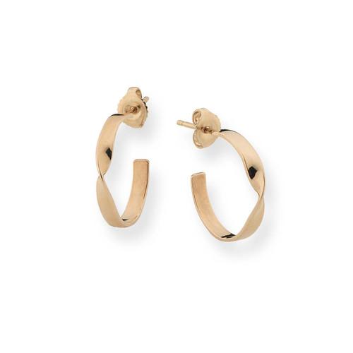 Gracefully Designed 14kt Infinity Earrings