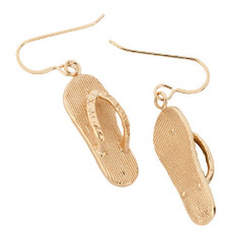 14kt Flip Flop Earrings Looks like a Miniature Sandal