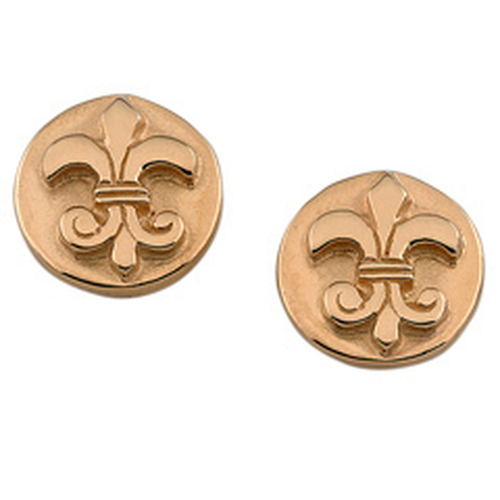 14kt Fleur de Lis Earrings