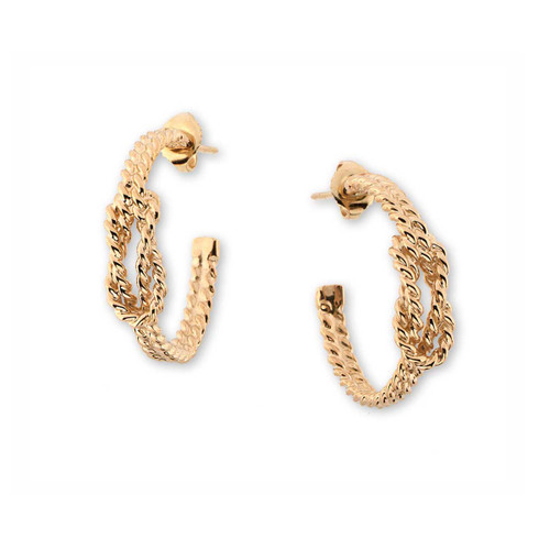 14kt Square Knot Earrings