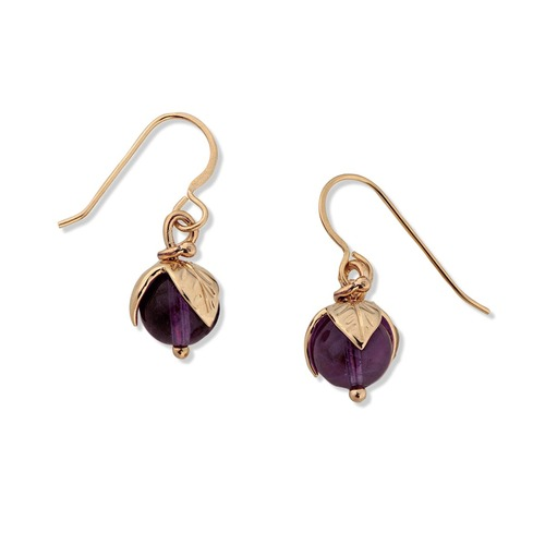 14kt Amethyst Berry Earrings