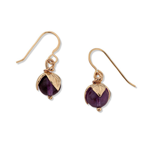 14kt Amethyst Berry Bud Earrings