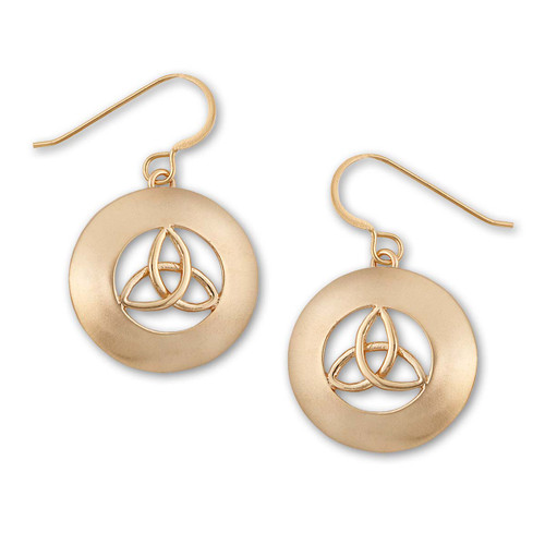 14kt Celtic Erin Earrings with Traditional Looks