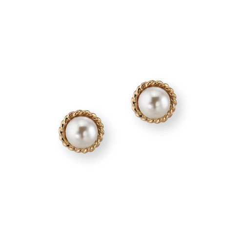 14kt Enduring Grace Freshwater Pearl Earrings