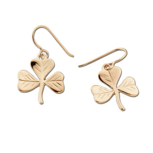 14kt Shamrock Earrings