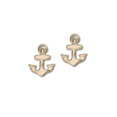 14kt Petite Anchor Earrings