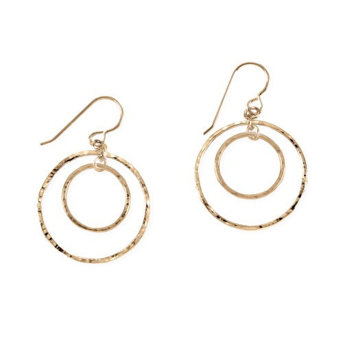 14kt Inner Gold Circle Earrings
