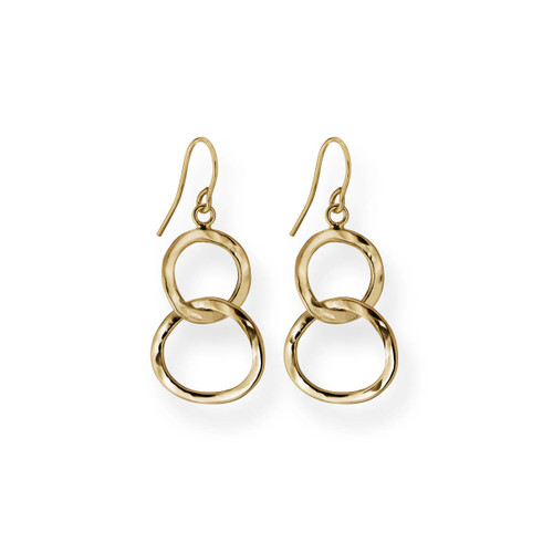 14kt Gold Hand Crafted Circles Earrings