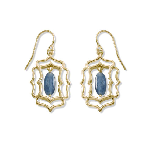 14kt Mystic Window Genuine Kyanite Earrings