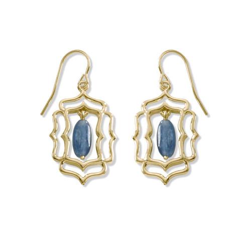 14kt Mystic Window Genuine Kyanite Earrings