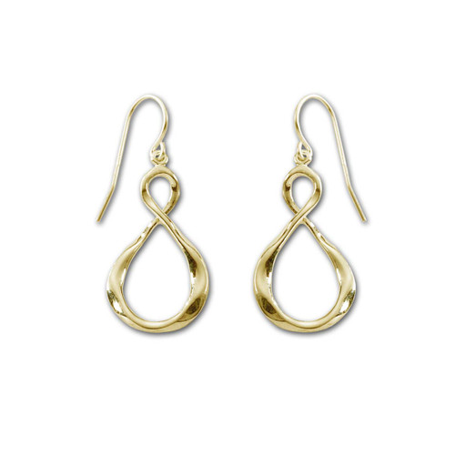 14kt Hammered Infinity Earrings