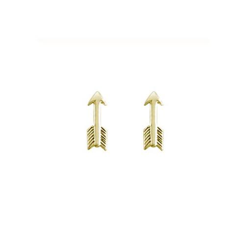 14kt Small Arrow Earrings