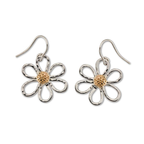Sterling & 14kt Petite Daisy Earrings