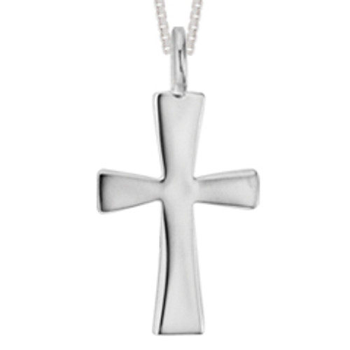 Handmade Sterling Silver Large First Cross Pendant
