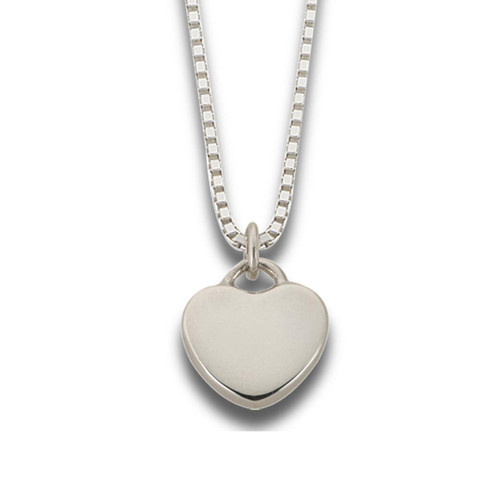 "Sterling Silver Candy Heart Pendant ""Plain"""