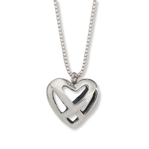 Beautiful Sterling Silver Celtic Heart Pendant