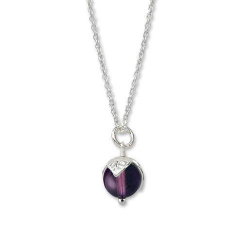 Sterling Silver Amethyst Bud Pendant