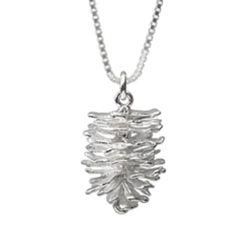 Sterling Silver Pinecone Pendant