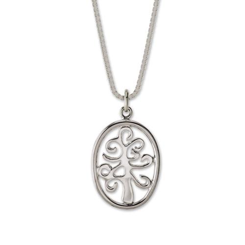 Sterling Silver Framed Tree of Life Pendant