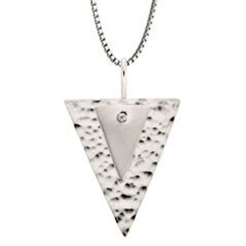 Sterling Silver Double Triangle Pendant