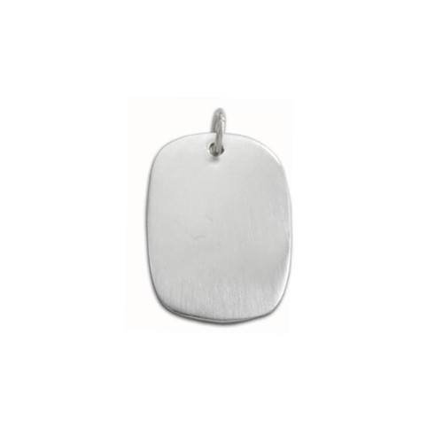 Sterling Silver Large Oval Pendant