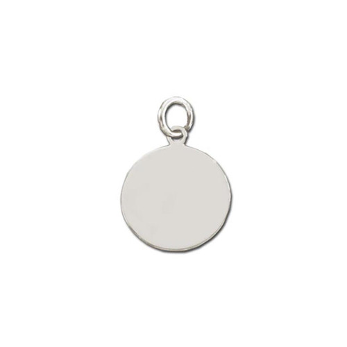 Sterling Silver Round Plaque Charm or Pendant