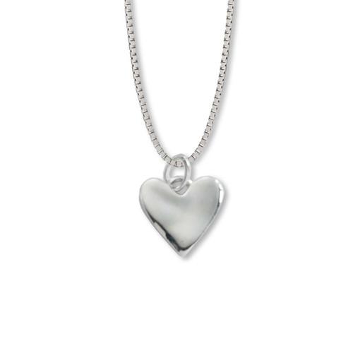 Sterling Silver Wobble Heart Pendant