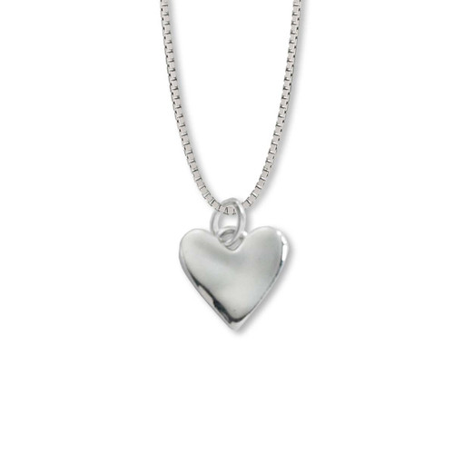 Wavy Texture Sterling Silver Wobble Heart Pendant