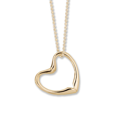 14kt Joan's Heart Pendant