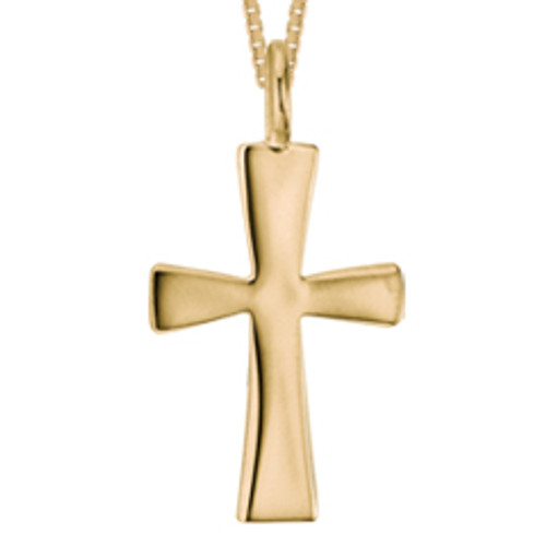 Handmade 14kt Large First Cross Pendant