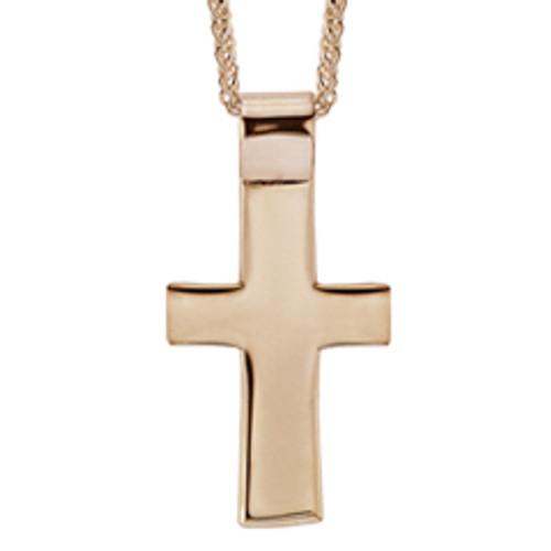 14kt Men's Cross Pendant