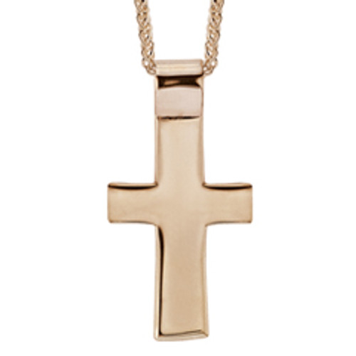 14kt Men's Cross Pendant with Strong Built in Bails
