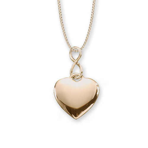 14kt Infinity Heart Pendant