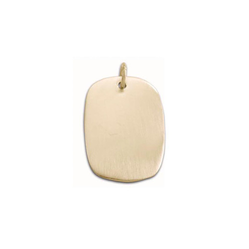 14kt Gold large Oval Pendant
