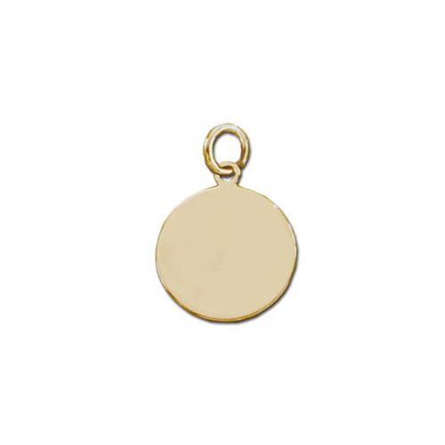 14K Round Plaque Charm or Pendant